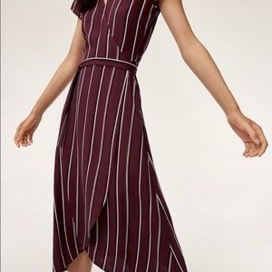 Wilfred Striped Maxi Wrap Dress